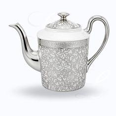 Кофейник из лиможского фарфора TOLEDE PLATINE от Raynaud