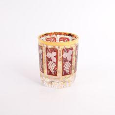 Набор стаканов 280 мл КРАСНЫЙ ВИНОГРАД из чешского стекла от Egermann, 6 шт.