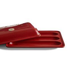 Керамическая форма для выпечки багетов от Emile Henry, 39х24 см, цвет гранат