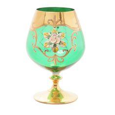 Набор бокалов для бренди ЛЕПКА ЗЕЛЕНАЯ от Bohemia, стекло, 6 шт.