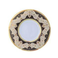 Набор тарелок 27 см BELVEDER COMBI BLACK GOLD от Falkenporzellan, фарфор