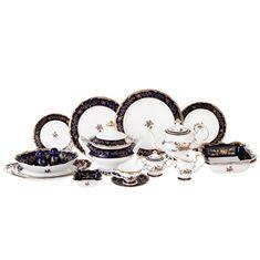 Столово-чайный фарфоровый сервиз ВОСПОМИНАНИЕ от Royal Classics на 12 персон, 80 предметов