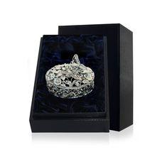Шкатулка-конфетница из серебра с чернением БАБОЧКА от ArgentA