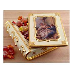 Шкатулка-книга 42х21 см BAROQUE от Migliore, керамика, декор - золото, высота 7 см