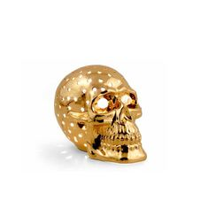 Лампа в виде черепа GIARDINO от Migliore, керамика, декор - золото, Swarovski