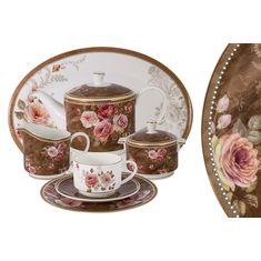 Чайный сервиз АНГЛИЙСКАЯ РОЗА от Anna Lafarg Emily на 12 персон, 40 предметов