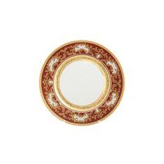 Блюдо круглое 32 см ALENA 3D BORDEAUX GOLD CONSTANZA от Falkenporzellan, фарфор