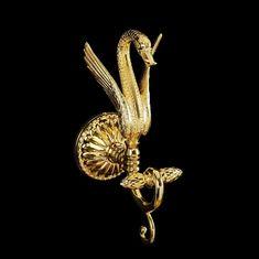 Крючок двойной золотой с лебедем LUXOR от Migliore