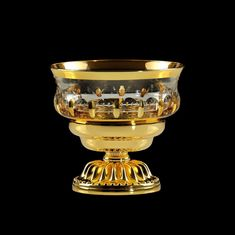 Емкость для мыла настольная LUXOR от Migliore, хрусталь, декор золото