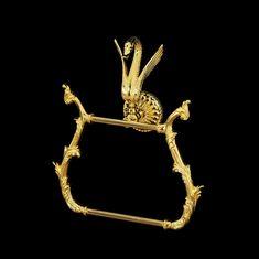 Полотенцедержатель фигурный золотой с лебедем LUXOR от Migliore