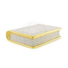 Шкатулка-книга DUBAI от Migliore, высота 27.5 см, керамика, декор - золото, кристаллы Swarovski