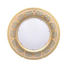 Блюдо фарфоровое круглое 32 см ARABESQUE SELADON GOLD от Falkenporzellan