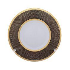 Набор тарелок 22 см BELVEDER COMBI BLACK GOLD от Falkenporzellan, фарфор