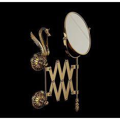 Зеркало настенное выдвижное LUXOR от Migliore, диаметр 18 см
