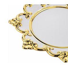 Сувенир блюдо для королевской короны CHRISTMAS от Migliore, диаметр 30 см, керамика, белый цвет, декор - золото
