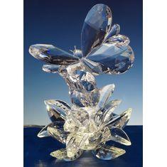 Настольная лампа-скульптура БАБОЧКА от Nuria Grau, хрусталь