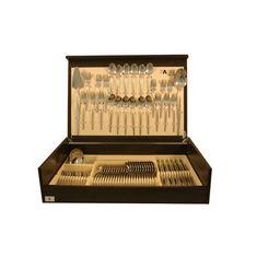Набор столовых приборов Cosmos в деревянной коробке от Face на 12 персон, 75 предметов