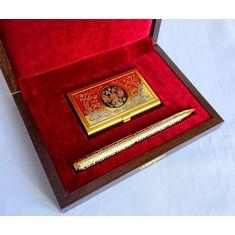 Набор Визитница, ручка украшенная от Zlatoust