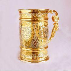 Пивная кружка Золотая от Zlatoust