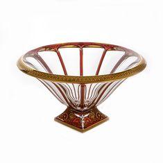 Ваза для фруктов ПАНЕЛ от Astra Gold, красно-золотой цвет
