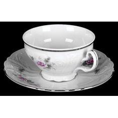 Чайные пары РОЗА СЕРАЯ ПЛАТИНА от Bernadotte